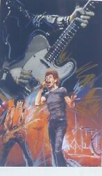 Ronnie Wood Weaving Mick Jagger Hand Signed Rolling Stones Screenprint Framed