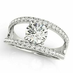 Excellent Round 0.90 Ct Real Diamond Wedding Rings Solid 950 Platinum Size 7 8 9