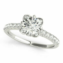 Round 0.80 Ct Real Diamond Women Engagement Ring Solid 950 Platinum Size 7.5 8 9