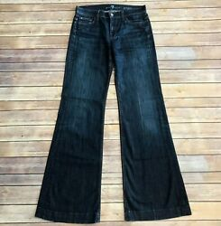 7 For All Mankind Ginger Flared Jeans Dark Wash Bell Bottom Size 27