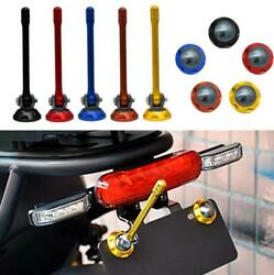 Motorcycle Scooter License Plate Decorative Nut Plate Holder Decorative Antenna