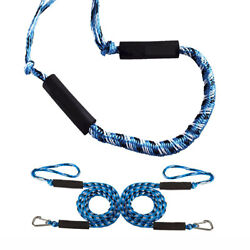 2 Pcs Boat Bungee Dock Lines Bungee Cords Docking Rope Stretches 4-5.5ft