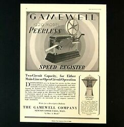 1929 Gamewell Fire Alarm Advertisement Speed Register Record Vtg Trade Print Ad