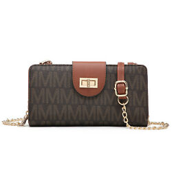 Women Small Faux Leather Messenger Crossbody Purses Cellphone Bags with Strap $22.99