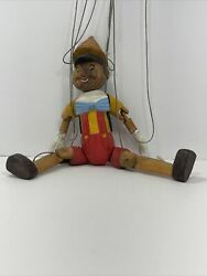 Vintage Carved Wood Wooden Marionette Puppet Pinocchio