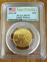 2013 Edith Wilson Gold First Strike First Spouse Pcgs Ms70