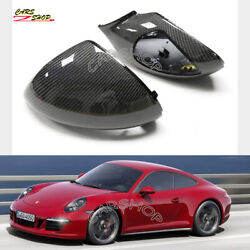 For Porsche 911 991.2 Gt2 Gt3 Gts Dry Carbon Fiber Side Mirror Cover Replace