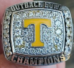 2008 Tennessee Vols Volunteers Ouback Bowl Champions Championship Players Ring