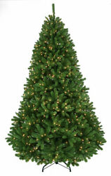 12and039 Thunder Bay Pre-lit Artificial Christmas Tree True Green
