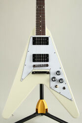 Gibson 70s Flying V Classic White Electric Guitar2