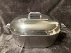 Vintage Magnalite Ghc 13 Qt Aluminum Roaster Dutch Oven With Lid And Trivet Usa