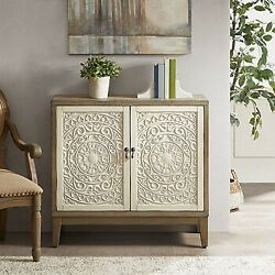 Madison Park Accent Chest With Reclaimed Walnut And Antique Cream Mp130-0824