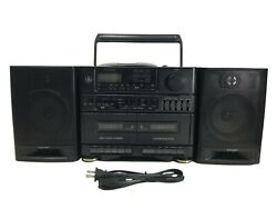 Vintage 1992 Ge General Electric Cfd-545 Boombox Cd Dual Cassette Fm/am Read