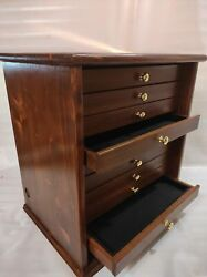 Mobile In Wood Walnut Antique Drawer For Pins Jewellery Badges And