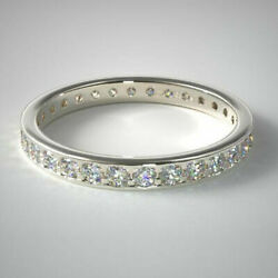 Real 1.55 Ct Round Diamond Engagement Band Solid 950 Platinum Bands Size 6 7 8 9