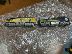 Pittsburgh Steelers Hawthorne Village Ho Model Train Engine And Car New Nfl Gift