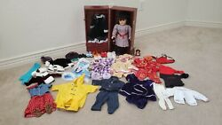 American Girl Pleasant Company Doll 90s Vintage Samantha Rare Trunk And Outfits