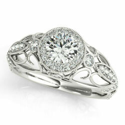 Real 1.00 Ct Diamond Women Engagement Ring Solid 950 Platinum Rings Size 8 9 10