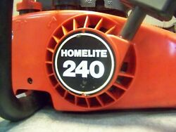 Vintage Homelite 240 Chainsaw With 16 Roller Bar