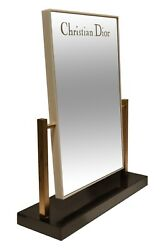 Vintage 1970and039s Christian Dior Department Store Counter Display Mirror