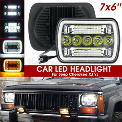 1pc 120w 5x7and039and039 7x6and039and039 Led Headlight Hi-lo Beam Halo Drl For Jeep Cherokee X Andgamma
