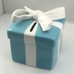 And Co Large Coin Piggy Bank Porcelain Blue Gift Box Ceramic Bone China
