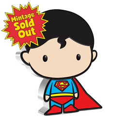 🔥2020 New Zealand Mint Dc Chibi Coin Superman 1oz Silver Coin Brand New Sealed
