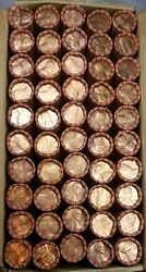 50 1980-d Lincoln Memorial Cent Penny Rolls Of 50 Coins Uncirculated Box1