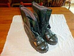 Lacrosse De-icer Duck Boots Size 11 Steel Toe And Shank Ansi Safety Cold Weather
