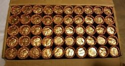 50 1971 D Lincoln Memorial Cent Penny Rolls Of 50 Coins Uncirculated