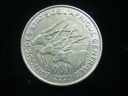 Central African States 25 Francs 2003 Cas Antelope Nice 6456 Money Coin
