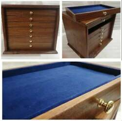 Mobile In Wood Walnut Antique Drawer For Pins Jewellery Badges E