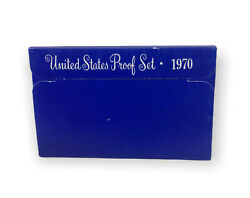 1970-s U.s. Mint 5 Coin Proof Set - Small Date Penny