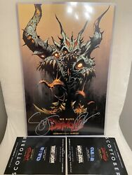 Nycc 2021 We Have Demons Poster Signed By Scott Snyder Greg Capulloandnbspexclusive