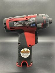"""Snap-on ™ Cts761 14.4v 1/4"""" Lithium Cordless Screwdriver Tool Only Red"""