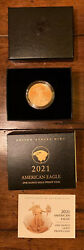 American Eagle 2021 One Ounce Gold Proof Coin 21ebn