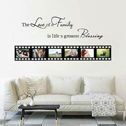Family Inspirational Wall Decals For Living Room Picture Frame 4x6in 6 Pieces