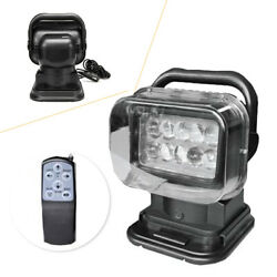 50w 360anddeg Cree Led Remote Control Search Light Lamp For Boat Suv Camping New Car