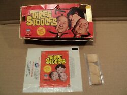 Three Stooges 1966 Fleer Wax Pack Card Box And Wrapper 3 Stooges
