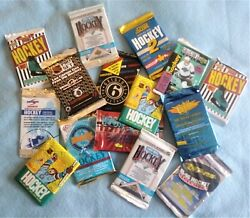 Old Hockey Cards Unopened Packs From Wax Box - Vintage 600 Card Lot