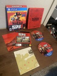 Red Dead Redemption 2 Ultimate Edition Ps4 Steelbook Map. Ships Next Day