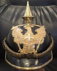 Imperial German Wwi Minty Prussian Reserve Dragoon Officers Pickelhaube
