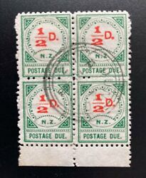 New Zealand Stamp 1899 Postage Due 1/2d Block 22 - Used