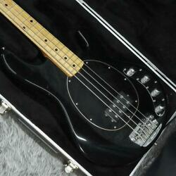 Ernie Ball Music Man Sting Ray Black Acoustic Bass Guitar With Case Made In Usa