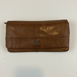 Women#x27;s Harbour 2nd Paprika Genuine Leather Zip Leather Clutch Wallet $26.94