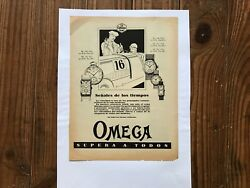 Advertising Omega Commercial - Brochure Ω - Vintage 1930 - Watches Clocks