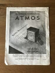 Advertising Jaeger Le-coultre Commercial - Atmos - Vintage 1932 - Watches Clocks