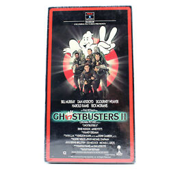 Ghostbusters 2 Vhs Factory Sealed 1989 First Print Rca Columbia White Stamp Vtg