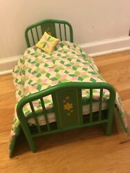 American Girl Doll Kit Green Metal Trundle Day Bed Retired