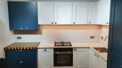 3831201 Second Nature Hunton Blue And Fitzroy Porcelein Lacquered Kitchen Save 47